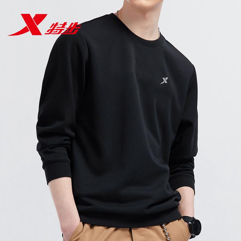 特步男装卫衣春季2020新款长袖运动上衣男士宽松学生休闲套头衫男