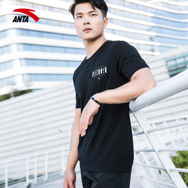安踏T恤男短袖男士夏季半袖体恤官网休闲跑步速干运动上衣POLO衫