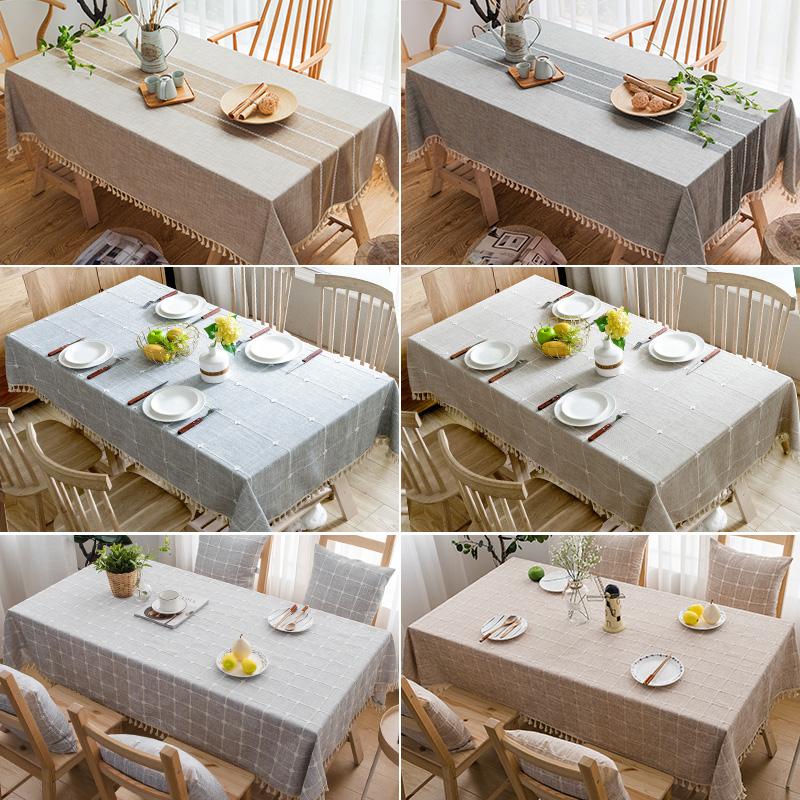 现代简约桌布布艺棉麻小清新茶几餐桌布北欧ins风长方形台布日式
