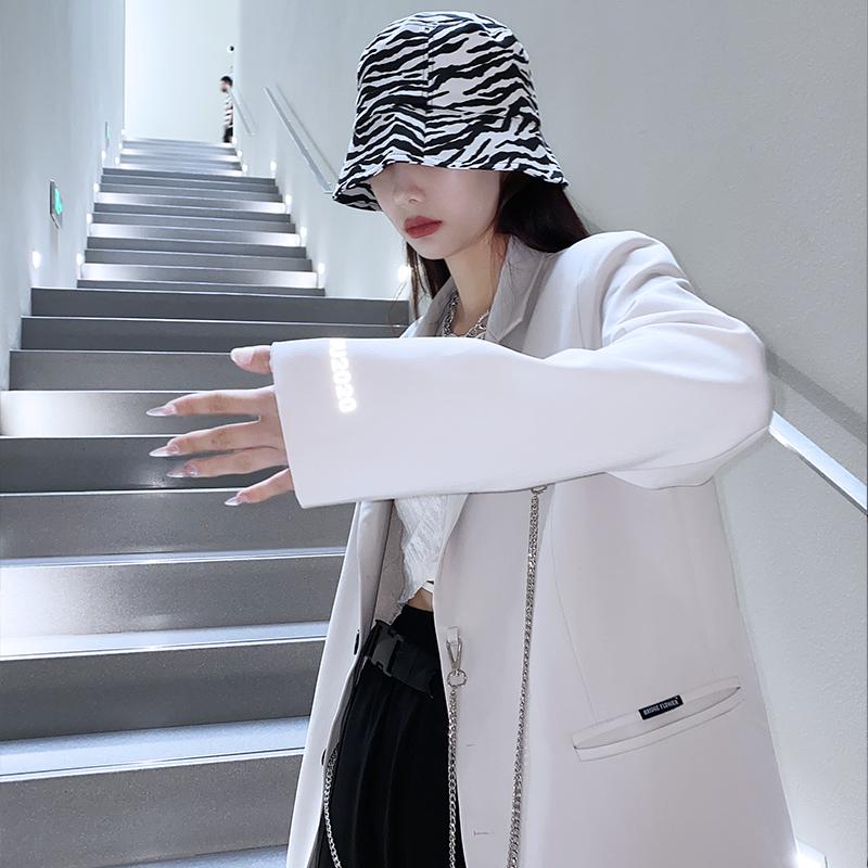 桥花白色西装女小个子高级感韩版小西服炸街设计感小众上衣外套春 No.1