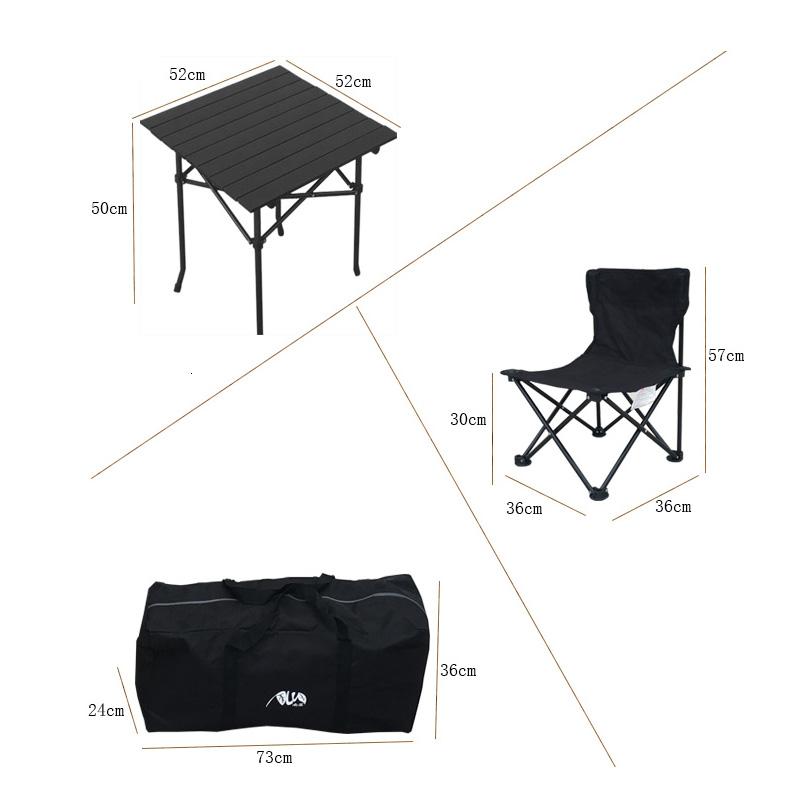 南落折叠桌椅户外便携式自驾游野餐桌椅休闲烧烤野露营桌椅组合装
