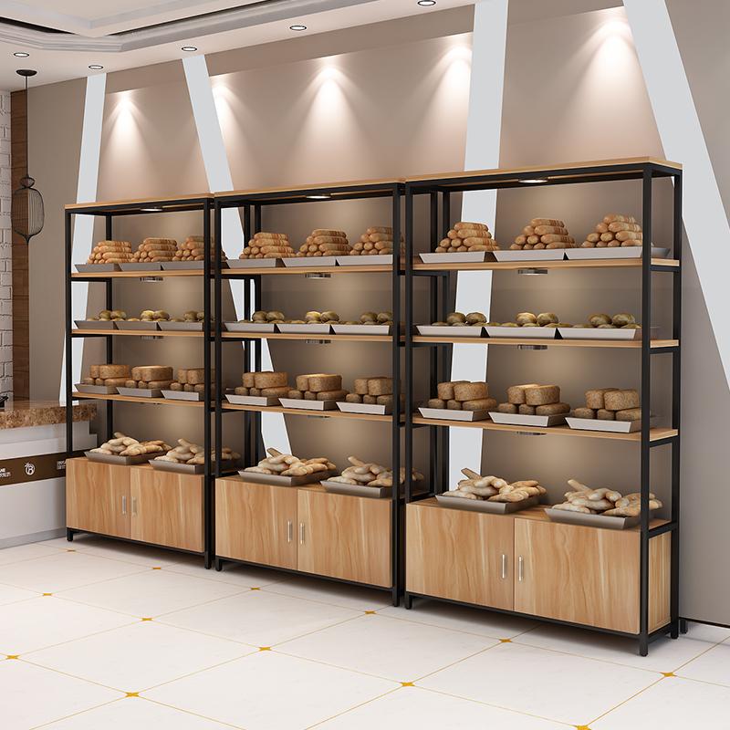 包邮面包点心柜展示架超市玩具展架书架货架包包展示柜鞋架带柜门