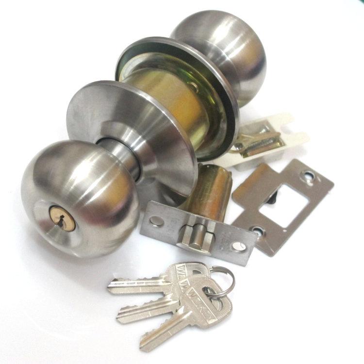 With a key lock 5791ss stainless steel round spherical ball lock the  bedroom door interior wood door room door locks