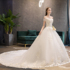 French light wedding dress 2021 new bride female French Mori Princess style one-shoulder super fairy simple big tail skirt