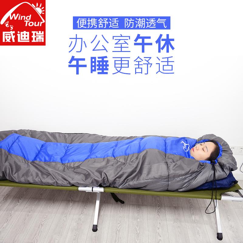 睡袋大人户外室内春夏四季加厚保暖露营旅行隔脏羽绒棉午休值班
