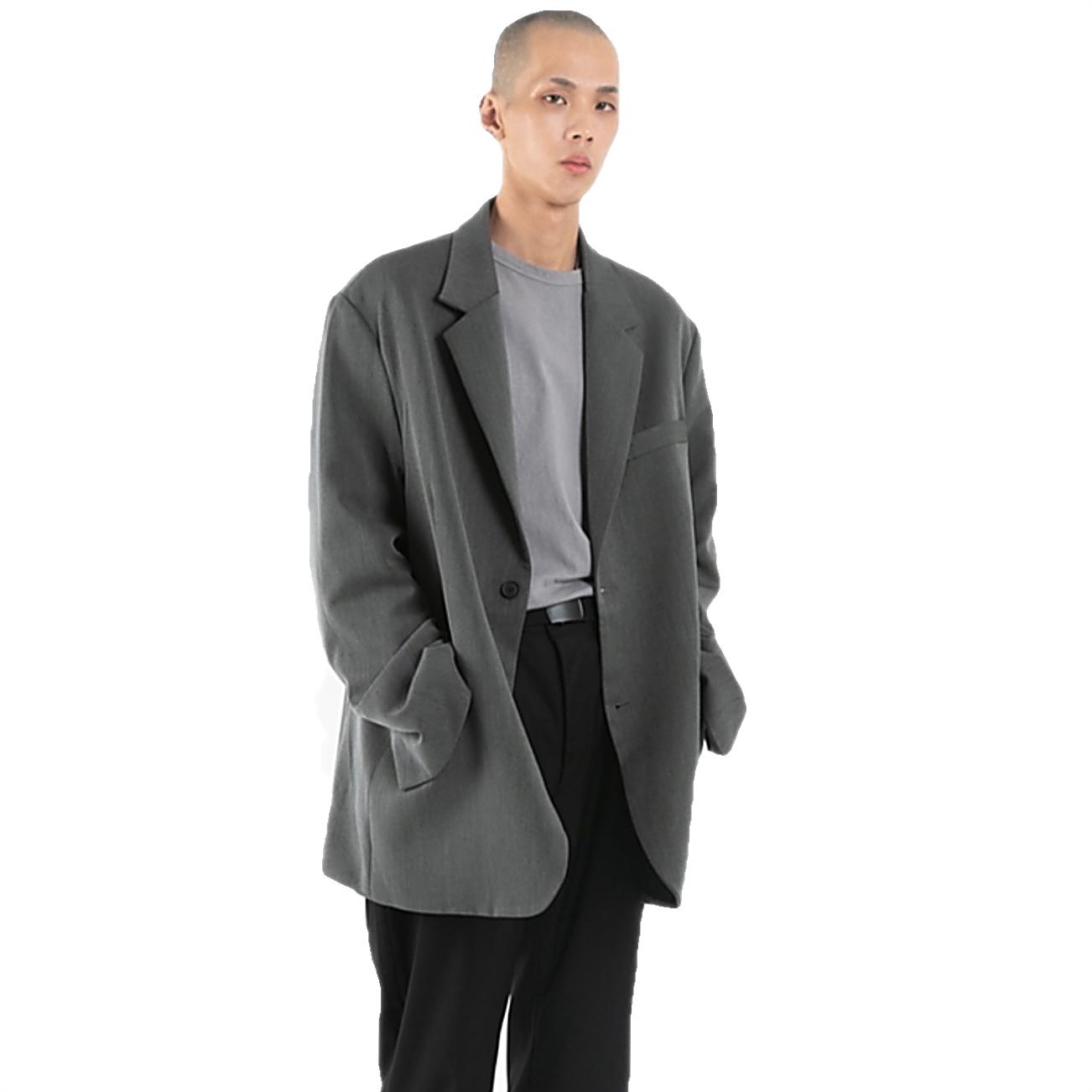 【113 Market】自制韩国Raucohouse百搭街头纯色西装外套