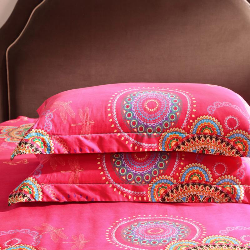 全棉磨毛四件套纯棉加厚卡通婚庆床单被套1.5m1.8m2.0米床上用品