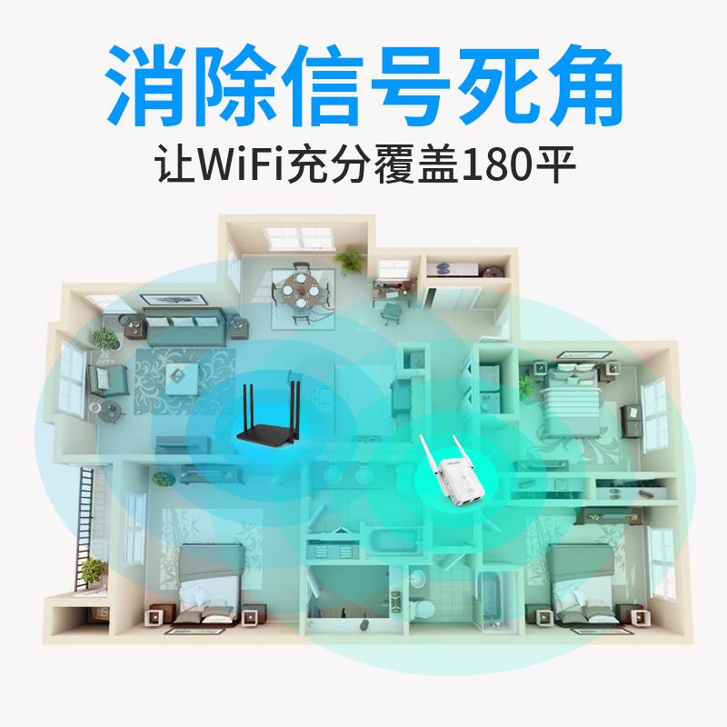 【一年换新包安装】wifi信号扩大器家用无线网络增强器睿因放大wi-fi中继器加强扩展路由大功率穿墙wf