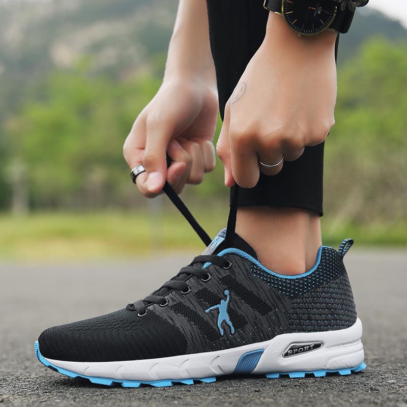 乔丹格兰男鞋飞织透气跑步鞋轻便耐磨防滑缓震舒适休闲旅游运动鞋