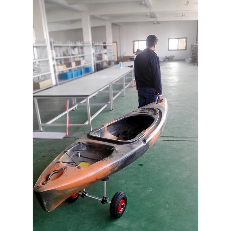 Y02017 直立插杆式平台式沙滩拖车 可折叠皮划艇拖车 约尼克 Yonk