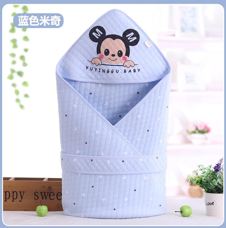 新生儿抱被春秋夏款纯棉初生婴儿包被薄款婴童抱被/抱毯宝宝用品