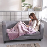 Autumn and winter female thick warm shawl shoulder cape cloak office nap blanket cape coral fleece blanket cover leg