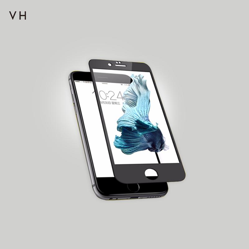 蘋果6splus鋼化膜iphone6全屏抗藍光手機貼膜4.7前後防指紋高清屏