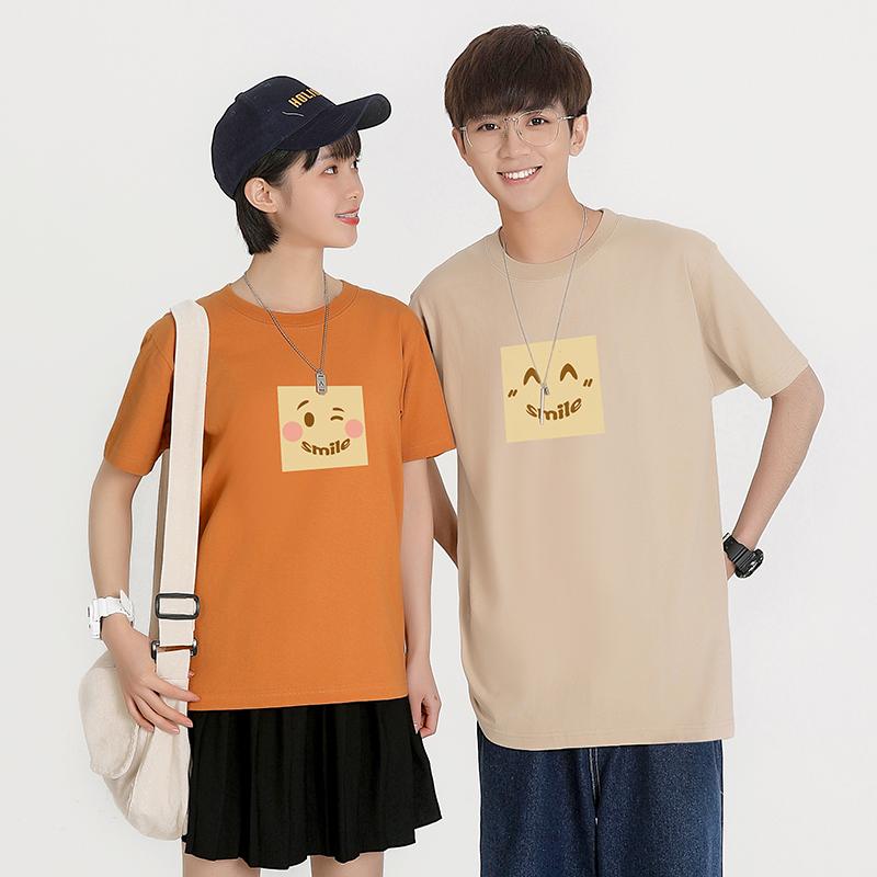 款韩版宽松学生女半袖上衣微笑