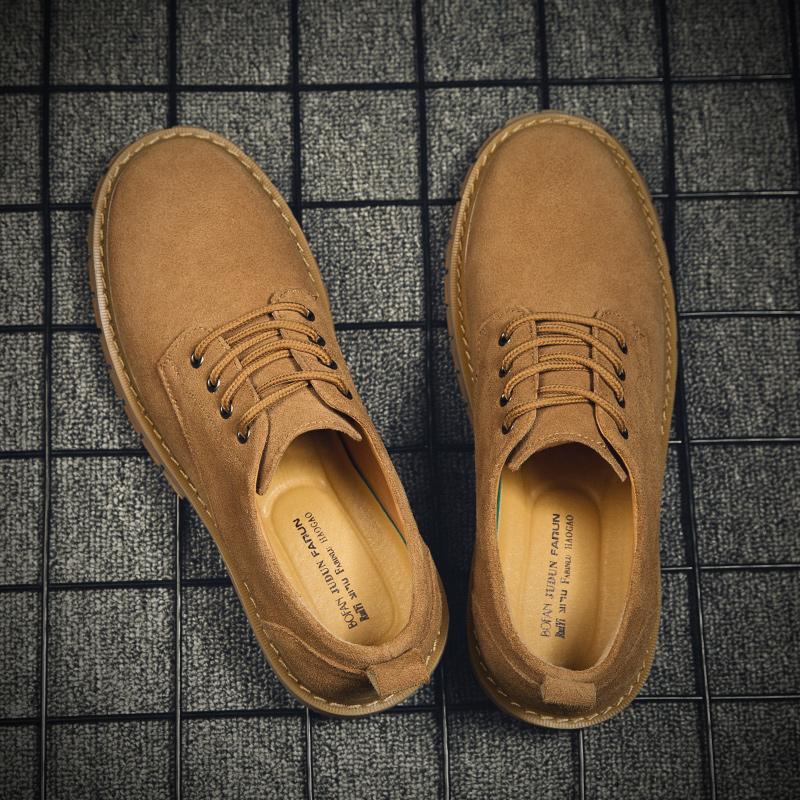 马丁鞋男夏季潮鞋百搭复古真皮秋季鞋子低帮靴休闲皮鞋英伦工装鞋
