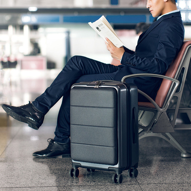 寸万向轮旅行箱拉杆箱 20 分前开盖行李箱男女密码商务登机箱 90 小米