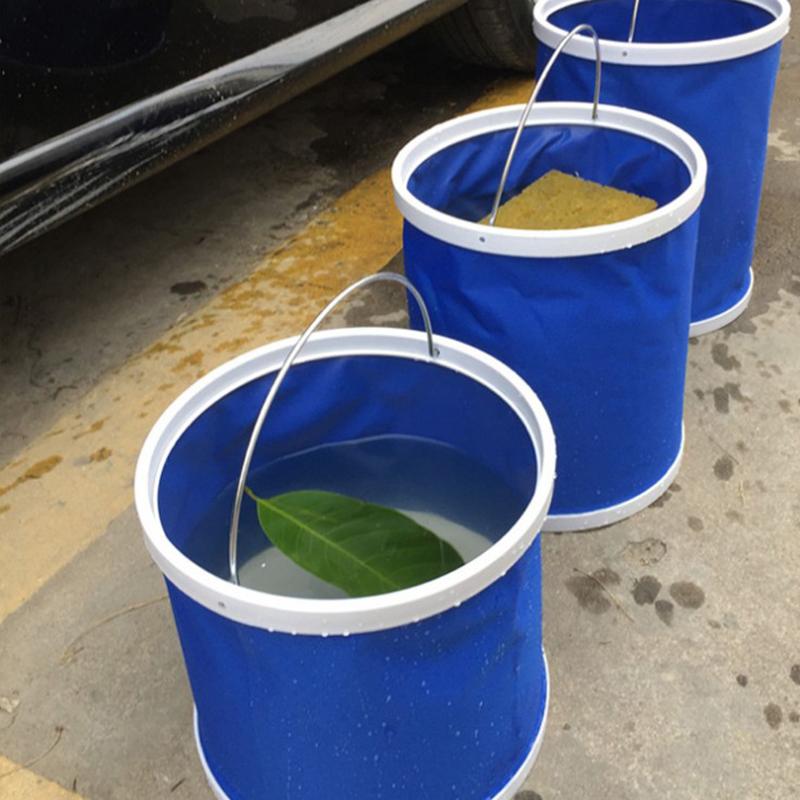 户外出行洗车用品车用水桶 11L加厚大号车载多功能便携式折叠水桶