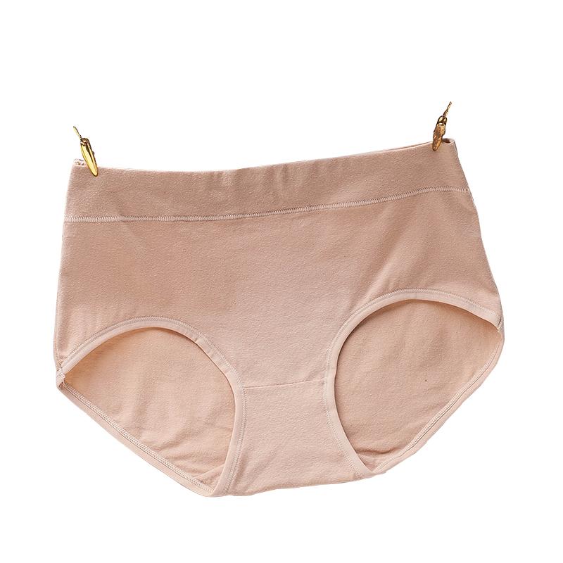 退换包邮5条装纯棉内裤女棉质面料中高腰短裤头透气女士内裤无痕