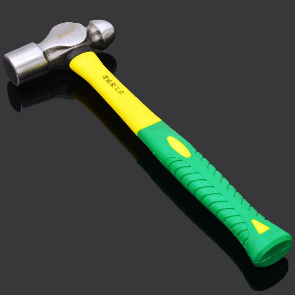 得威斯工具圆头锤 五金工具胶柄锤子 铁锤子 铁榔头 重型奶子锤头