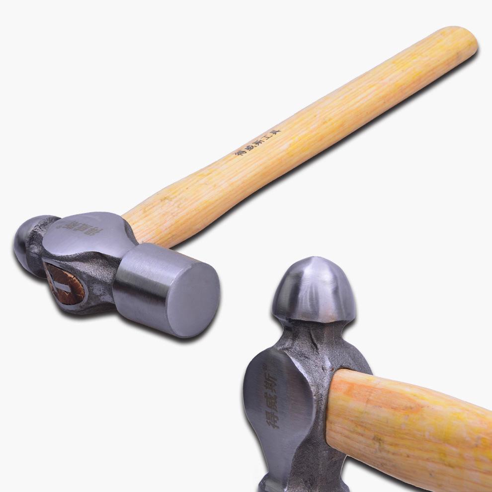 得威斯工具圆头锤 五金敲击铁锤 奶子锤 钉锤头 榔头 安装锤子