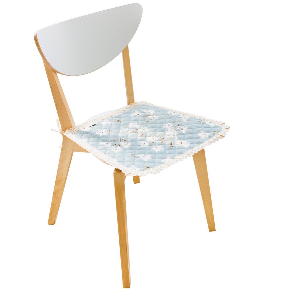 欧式田园薄款布艺椅垫四季可用 舒适蕾丝边餐桌椅垫办公椅坐垫