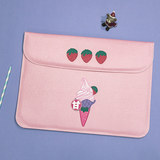 Halodtudio tank bag suitable for laptops Apple ipad millet turned pink strawberry protective sleeve