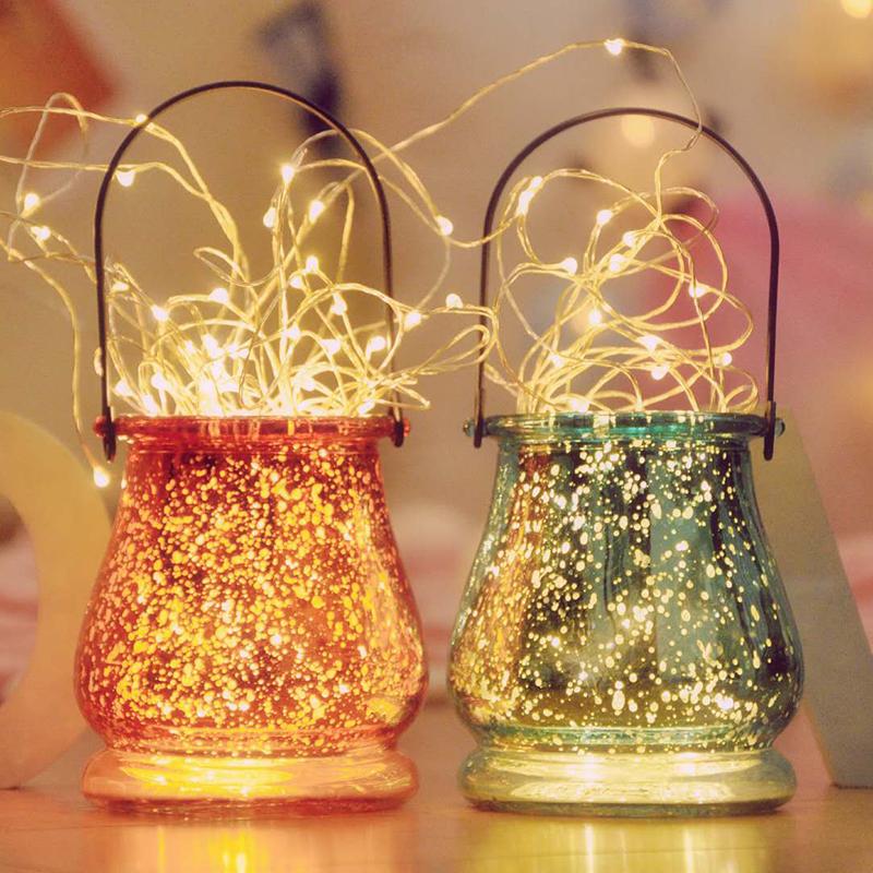 led铜线灯遥控圣诞节灯串婚庆小彩灯闪灯ins少女心星星灯房间装饰