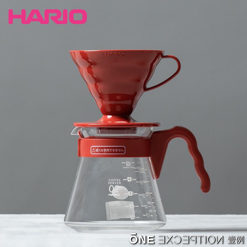 日本Hario V60 VCSD/P 3件套1-4杯份入門手衝濾杯咖啡壺系列套