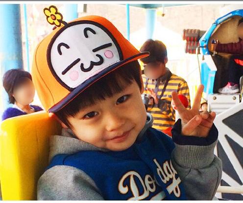 T607卡通平沿棒球帽 兒童平板鴨舌帽 寶寶春秋新款兒童帽95g