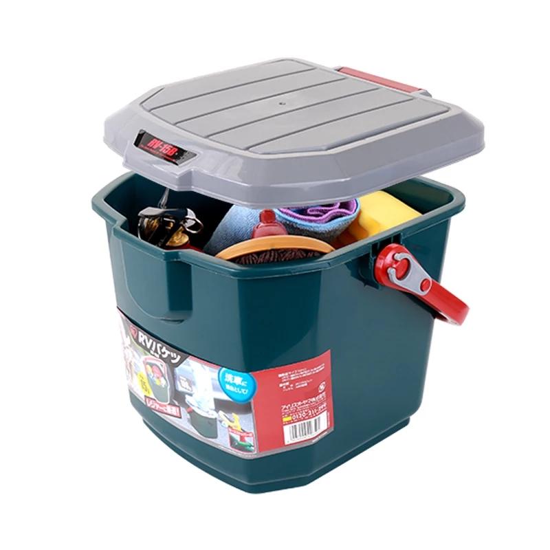 爱丽思洗车桶  车用水桶多用桶汽车收纳箱后备箱置物盒