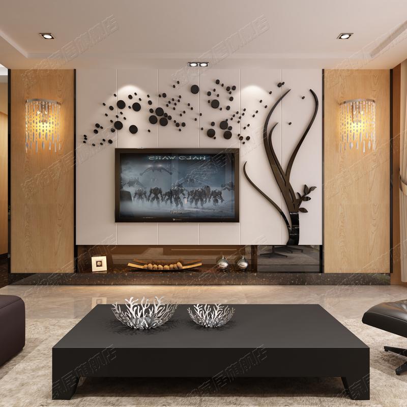 北欧风格创意亚克力3d立体墙贴画客厅电视背景墙面贴纸家装饰个性