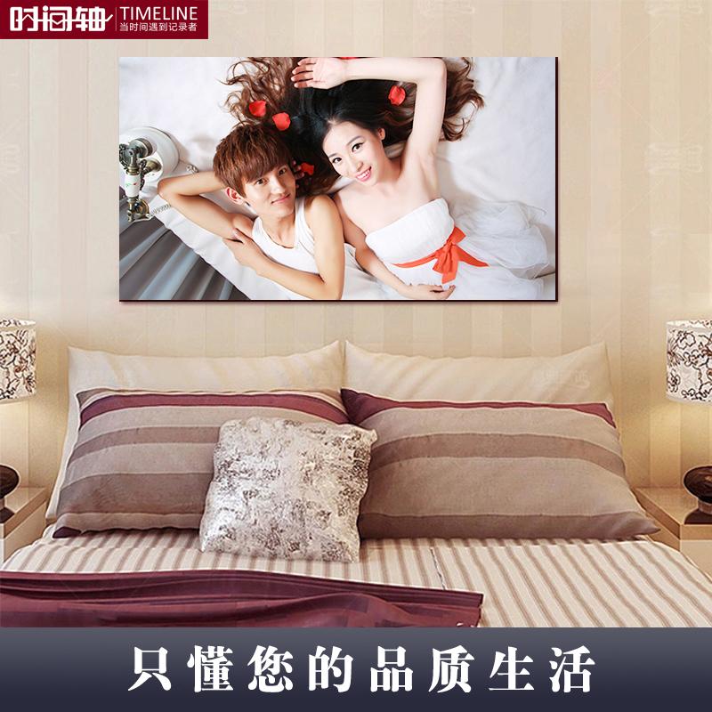 水晶擺臺照片定制禮物拉米娜婚紗照放大木版畫相片制作掛墻相框