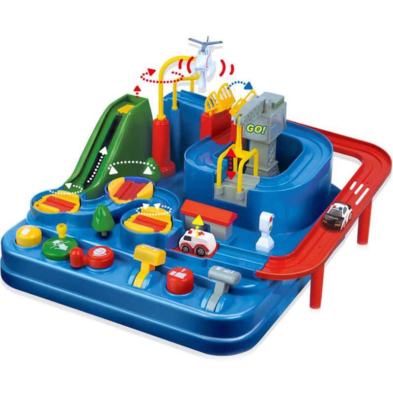 儿童汽车闯关大冒险玩具小火车轨道玩具儿童女孩3岁4男孩宝宝益智 No.1