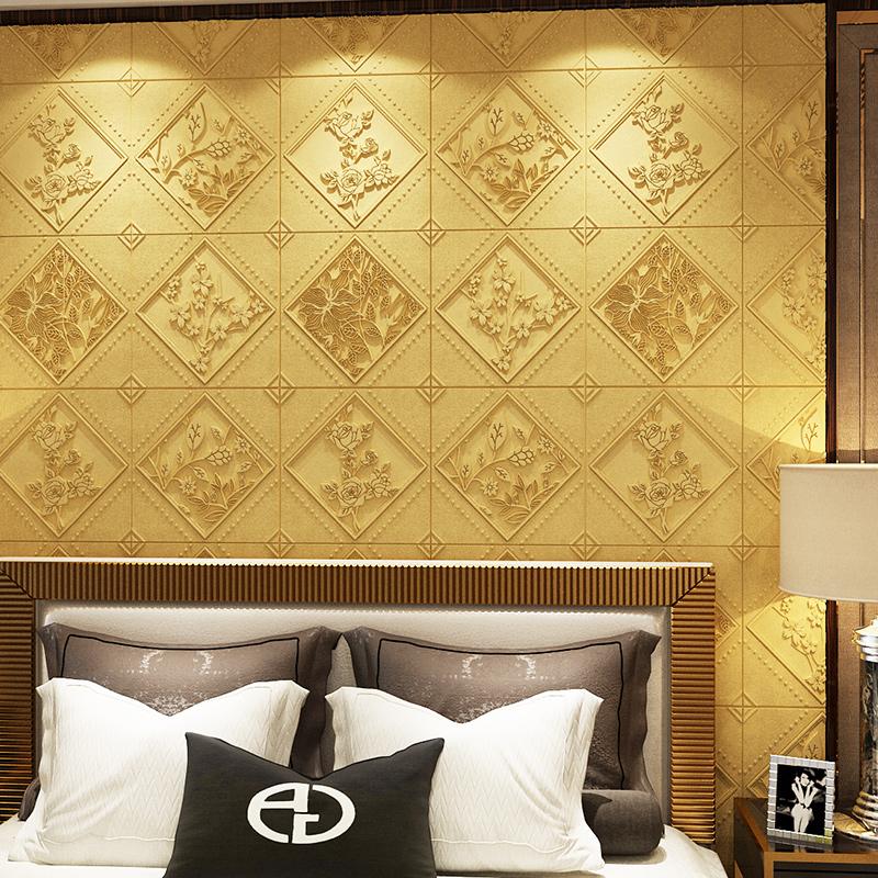 立體墻貼加厚臥室客廳滿鋪壁紙防水防潮背景墻裝飾貼紙 3d 墻紙浮雕