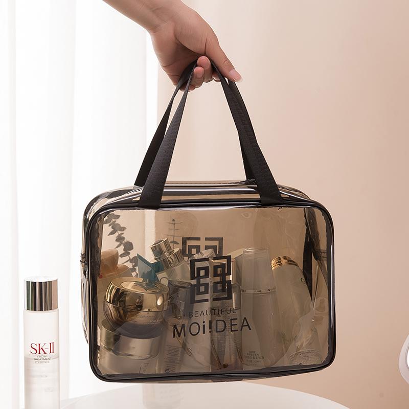 网红化妆包ins风超火小号便携女旅行透明大容量洗漱包品收纳袋盒