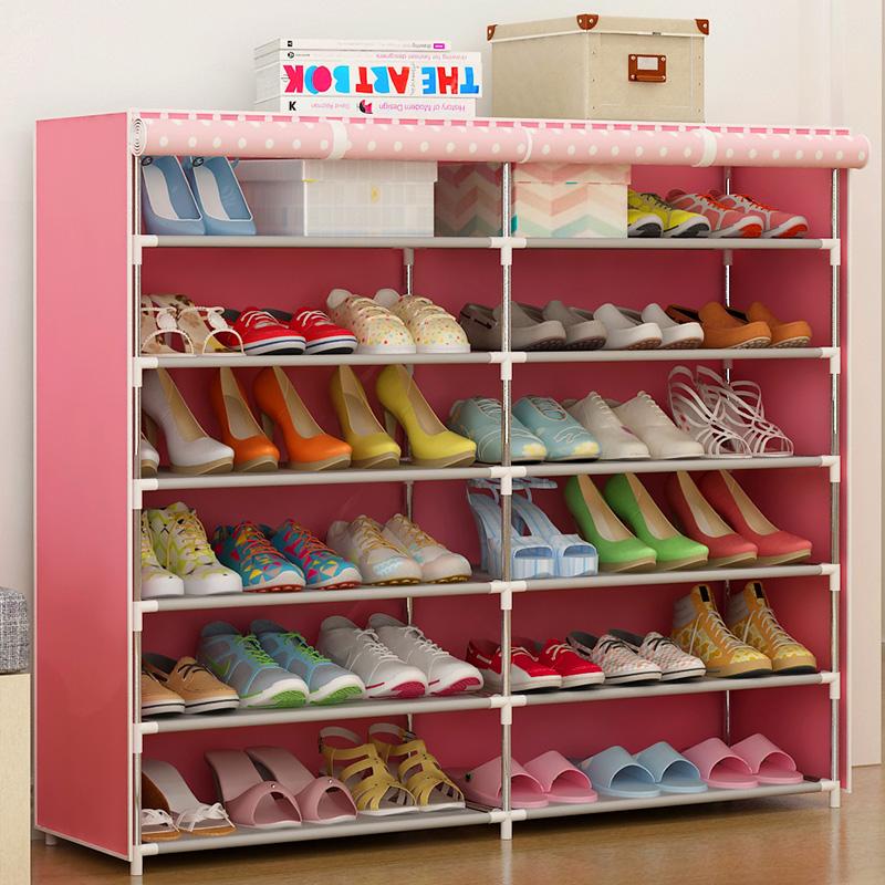 學生宿舍鞋架收納多層防塵簡易鞋櫃家用經濟型小窄門口小號省空間