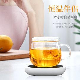 玻璃杯家用茶水分离泡茶杯网红男女透明带把带盖过滤花茶杯水杯子