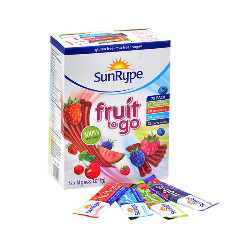 加拿大SunRype天然果丹皮进口宝宝零食水果条果肉条富含VC72条
