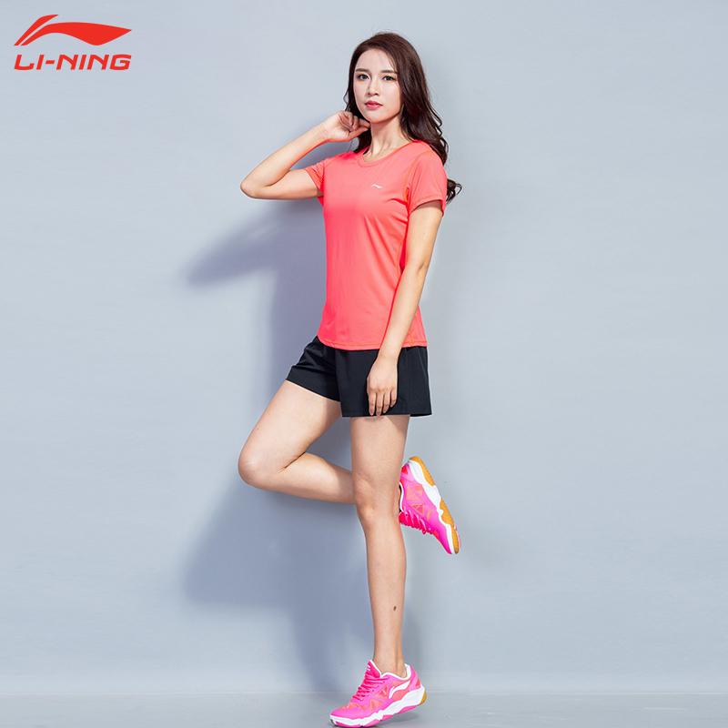 李宁健身服套装女款运动服训练服瑜伽服跑步晨跑夏季速干健身房服