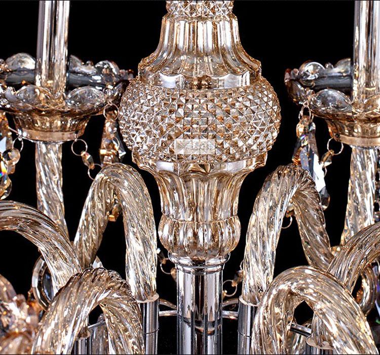 复古奢华水晶落地灯具 蜡烛水晶落地灯 欧式水晶落地灯卧室落地灯