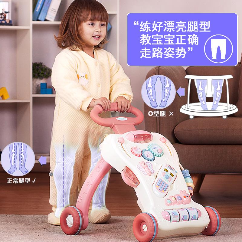 优乐恩儿童学步车宝宝防侧翻手推车1-2岁婴儿学走路早教益智玩具