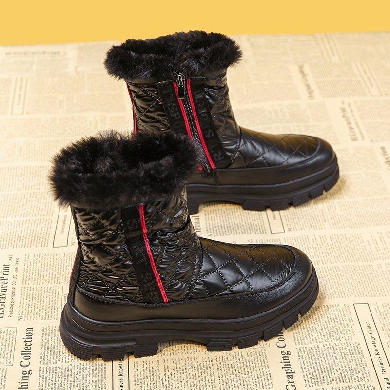 【顺丰包邮】真皮加绒保暖防滑雪地靴女短靴