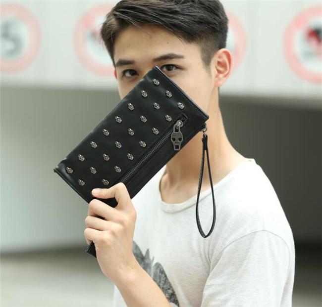 清仓百搭鬼头铆钉手机包 休闲零钱包卡包女包潮流男包小包包时尚