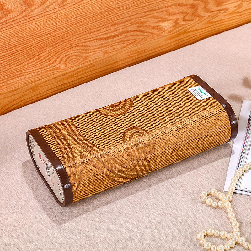 夏季竹質涼枕頭竹塊空心竹編夏天枕頭鏤空枕頭麻將塊竹絲冰絲枕頭