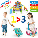 Variety Children's play stroller scooter slippery 3-in-1 Multifunctional Storage school buses for children 3-7 years old tableware s