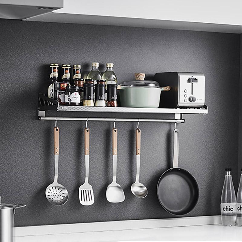 卡贝 304不锈钢板壁挂式微波炉电饭锅煲烤箱架厨