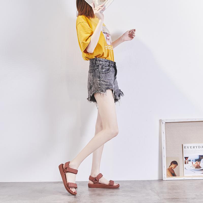 新款女鞋夏季仙女风  潮网红时尚平底罗马鞋运动学生 ins 凉鞋女 2019