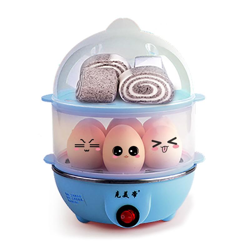 自动断电 350W 个蛋 14 1 蒸蛋羹 早餐机 双层煮蛋器 天天特价