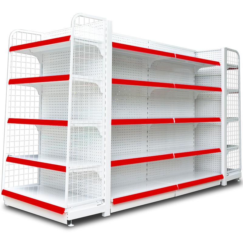 超市货架商店药店便利母婴店小卖部多层可拆卸展示架置物架子白色
