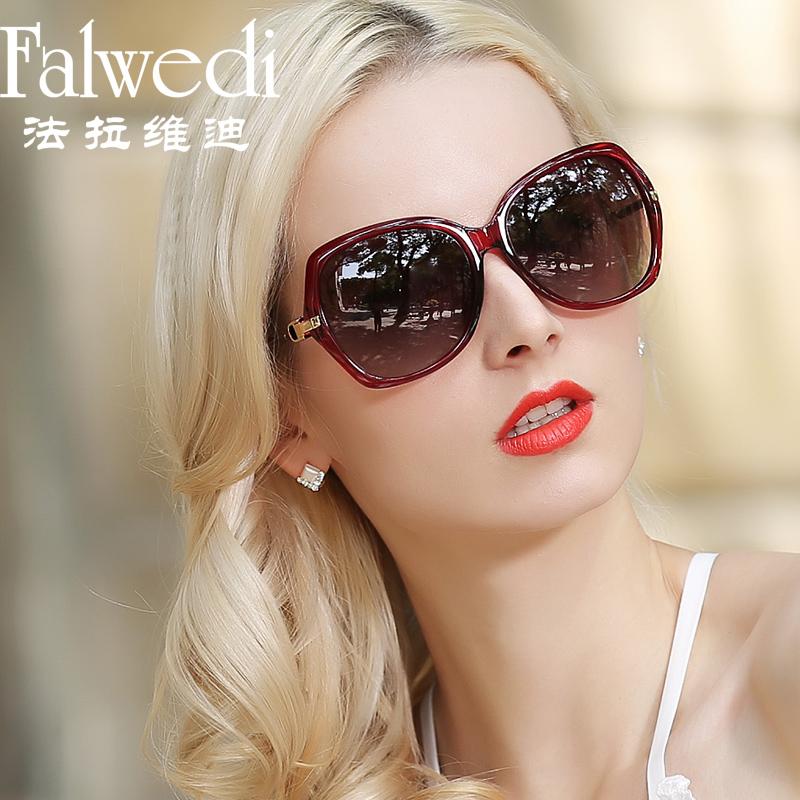 明星款时尚偏光太阳镜女防紫外线圆脸复古大框长脸墨镜潮优雅眼镜